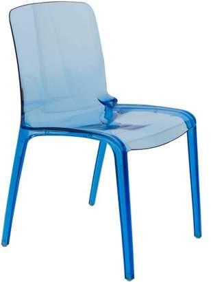 LeisureMod Murray Modern Dining Chair, Transparent Blue