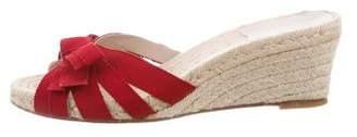 Salvatore Ferragamo Woven Slide Sandals