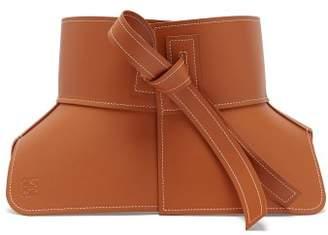 Loewe Obi Leather Belt - Womens - Tan