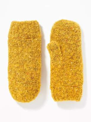 Old Navy Bouclé Mittens for Women