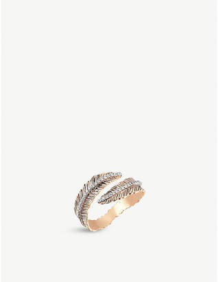 Rosegold The Alkemistry Kismet by Milka feather 14ct rose-gold and diamond ring