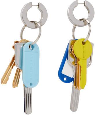 Balenciaga Multicolor Key Earrings