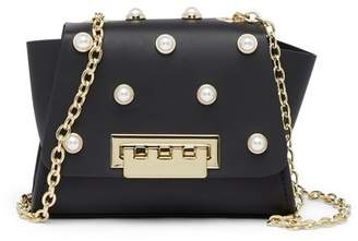Zac Posen Eartha Faux Pearl Mini Chain Leather Crossbody Bag