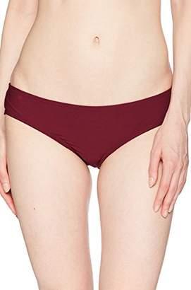 Vince Camuto Womens Shore Shades Shirred Smooth Fit Cheeky Bikini Bottom
