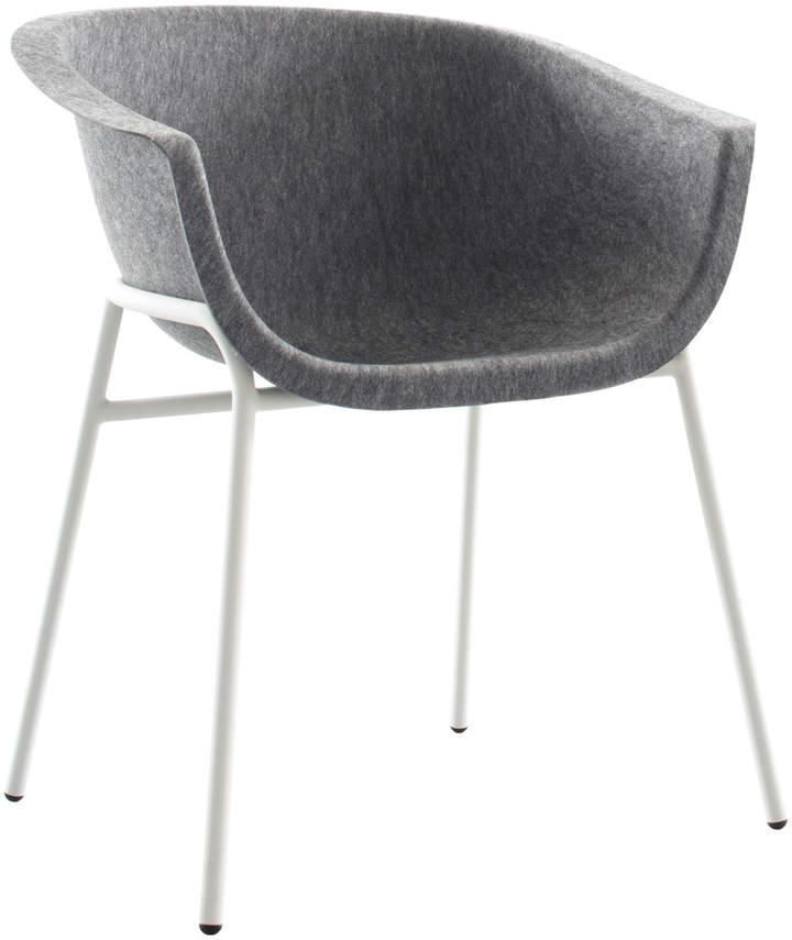 Chairman Metal, Stahlrohr weiß / formfleece Grau
