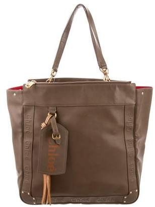 Chloé Embossed Leather Tote Bag