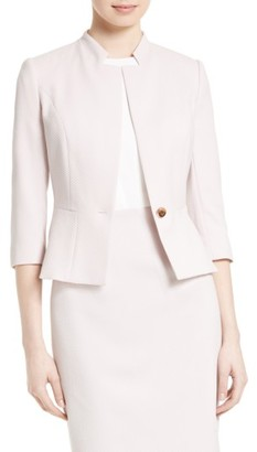 Women's Ted Baker London Illi Peplum Jacket $395 thestylecure.com