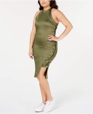 Anthony Logistics For Men Lala Trendy Plus Size Lace-Up Bodycon Dress