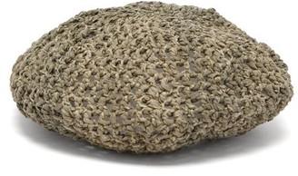 BEIGE Reinhard Plank Hats - Basco Woven Cotton Beret - Womens