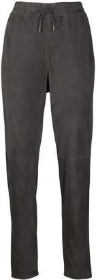 Fabiana Filippi high-waisted suede track pants
