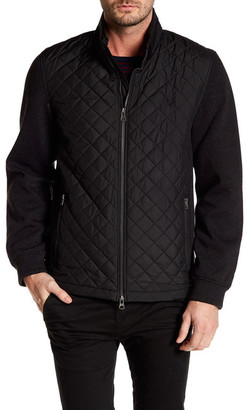 Bugatchi Long Sleeves Padded Contrast Sleeve Jacket $389 thestylecure.com