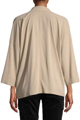 Vince Oversized Long-Sleeve Blouse