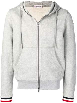 Moncler striped cuff hoodie