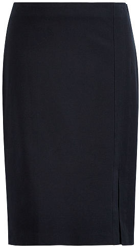 Ralph Lauren Lauren Side-Slit Pencil Skirt