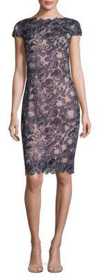 Tadashi Shoji Vintage Rose Sheath Dress $370 thestylecure.com