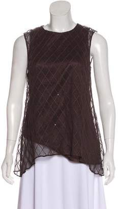 Brunello Cucinelli Sequined Sleeveless Top