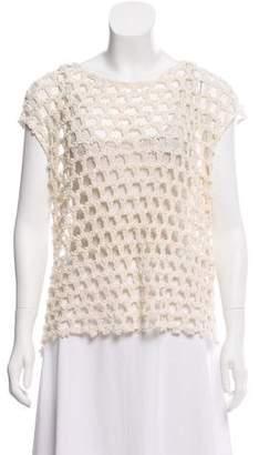 IRO Sleeveless Open Knit Top