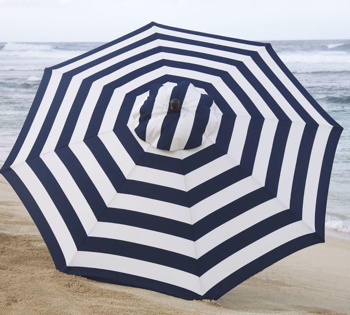 Round Market Umbrella - Stripe