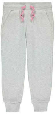 George Marl Grey Cuffed Leg Joggers