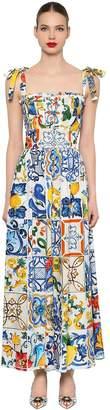 Dolce & Gabbana Maiolica Printed Poplin Jumpsuit