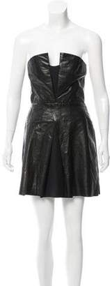 A.L.C. Leather Strapless Dress