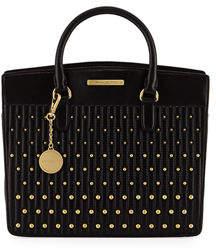 Donna Karan Quilted Leather Satchel Bag