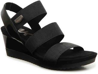 5ad4d15f07a Anne Klein Black Heel Strap Women s Sandals - ShopStyle
