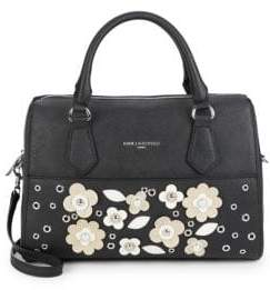 Karl Lagerfeld Floral Patch Convertible Satchel