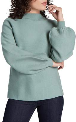 ModCloth Balloon Sleeve Funnel Neck Sweater