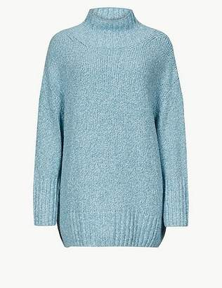 Marks and Spencer Cotton Rich Textured Jumper