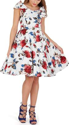 BlackButterfly 'Cynthia' Vintage Mercy 50's Dress (Black Red, US)