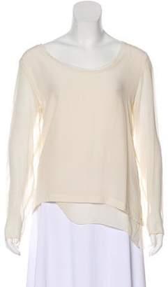 Gold Hawk Silk Long Sleeve Top