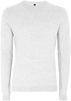 Topman Off White And Grey Twist Jumper