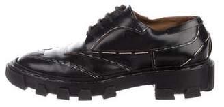 Balenciaga Leather Lace-Up Oxfords
