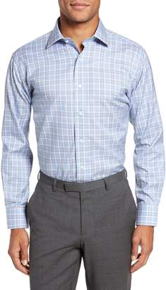 Lorenzo Uomo Trim Fit Plaid Dress Shirt