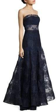 Basix II Black Label Strapless Lace Gown