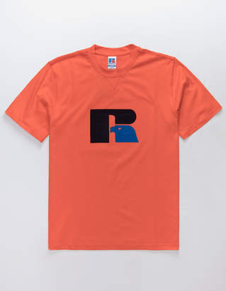 Russell Athletic Jerry Flock Orange Mens T-Shirt