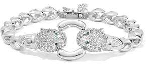 Kenneth Jay Lane Cz By Silver-Tone Crystal Bracelet