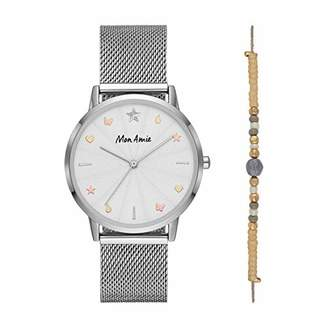 Mon Amie Women's 'Supports Education' Quartz Metal and Stainless Steel Casual Watch