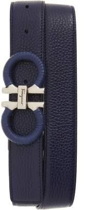 Salvatore Ferragamo Textured & Smooth Leather Belt