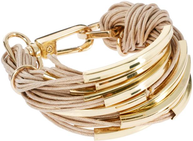 Ashiana Multi Cord Bracelet with Tube Detail