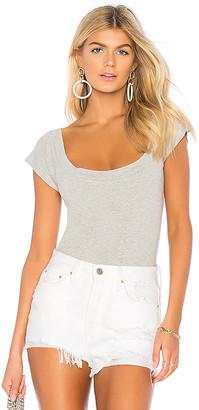 Norma Kamali Short Sleeve Bodysuit