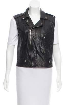 Rebecca Minkoff Leather-Paneled Moto Vest