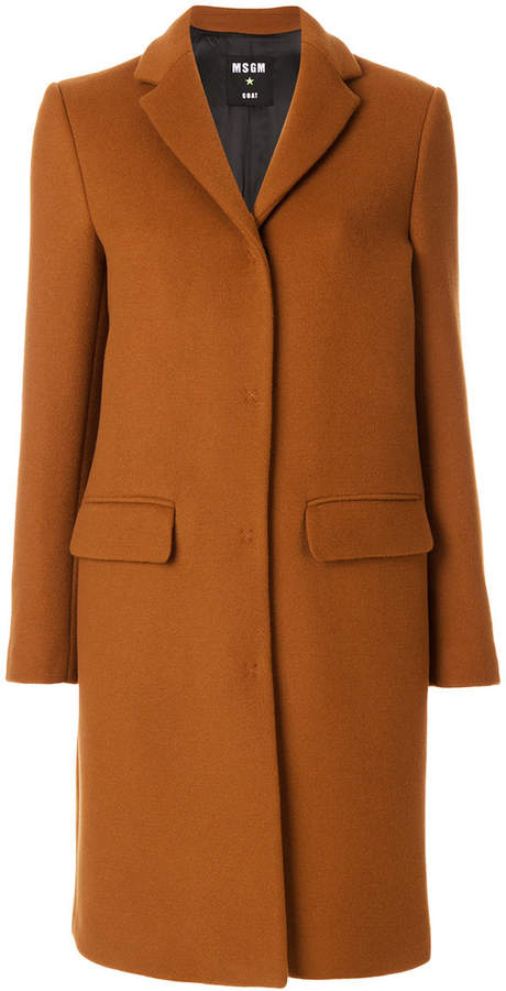 MSGM classic buttoned coat