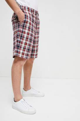 French Connection Laundered Oxford Check Shorts