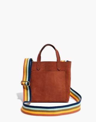 Madewell The Small Transport Crossbody in Nubuck Leather: Rainbow Strap Edition