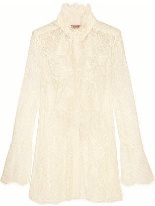 Lanvin - Ruffled Lace Blouse - Ivory $3,855 thestylecure.com