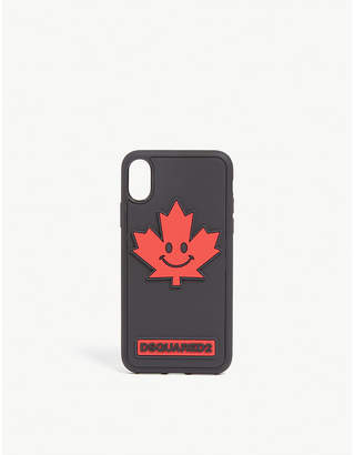 DSQUARED2 Acc Maple leaf logo iPhone X case