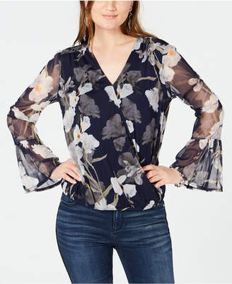INC International Concepts I.n.c. Floral-Print Surplice Top, Created for Macy's