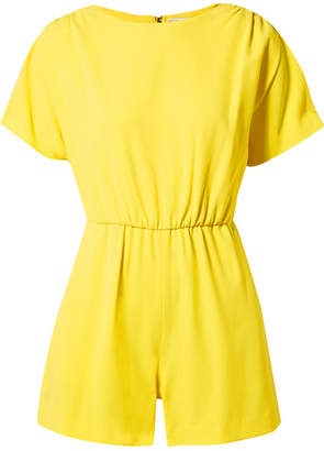 Alice + Olivia Alice Olivia - Ashlea Crepe Playsuit - Yellow